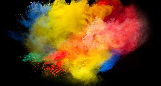pintura en polvo